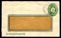 Lot 700:1928-37 1d Green KGV Oval BW #ES64 1d green window faced envelope, for Vaccum Oil Co, used in 1930