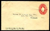 Lot 489:1930-37 2d Red KGV Oval BW #ES72 Die 1 envelope for Vacuum Oil Company, type addressed but unused.