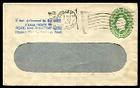 Lot 4164:1928-37 1d Green KGV Oval BW #ES64 on window faced envelope, for Ford Sherington used in 1931.