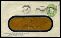 Lot 701:1941-50 1½d Green KGVI Oval BW #ES79 on window faced envelope, for Elder Smith & Co used in 1945.