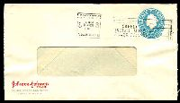 Lot 4204:1960 5d Light Blue QEII Small Die BW #ES98 5d light blue on window faced envelope for Johnson & Johnson Pty Ltd used in 1965.