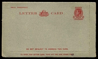Lot 854:1942-44 2½d Red KGVI Sideface BW #LC70 with 'DO NOT NEGLECT........' in red on face panel, removed from inside.