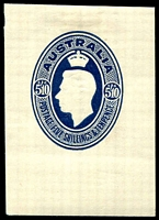 Lot 3912:1946 Parcel Label BW #PL4 5/10d KGVI deep blue embossed cut-out.