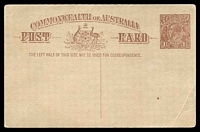 Lot 623:1920-22 1½d Red-Brown KGV Sideface - Footnote Deleted BW #P52 light crease at lower right.