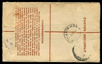 Lot 707 [2 of 2]:1951-53 1/0½d Brown KGVI Crowned-Circle BW #RE36 on cream stock used in Auburn in 1952.