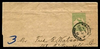 Lot 4402:1913-15 ½d Green Kangaroo BW #W1 used in 1915.