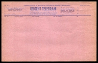 Lot 506:1951 Commonwealth of Australia Urgent Telegram blue on pink form T.G. 42A unused.