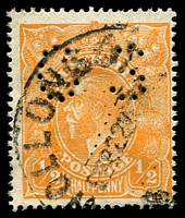 Lot 2829:½d Orange - BW #67ba perf 'OS'