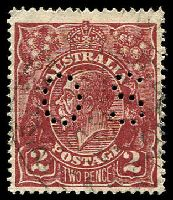 Lot 512:2d Red-Brown Die I BW #98ba perf 'OS'.