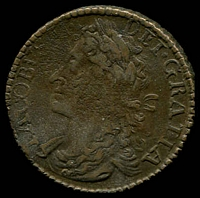 Lot 37 [2 of 2]:Ireland: James II 1689 Large Halfcrown minted in October known as Gun Money collectable example of this historic coinage.