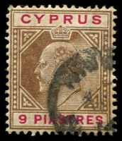 Lot 3649:1904-10 KEVII Wmk Multi Crown/CA SG #68 9pi brown and carmine.