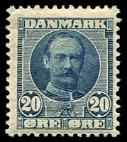 Lot 3886:1907 King Fredrick VIII SG #123 20ö blue.