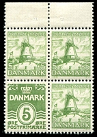 Lot 3416:1937 Booklet Pane SG #268bb 5ö green + 5ö green booklet pane, Cat £46.