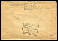 Lot 19392 [2 of 2]:1963 Berlin - Budapest cover with adhesive tied by Special cancel and cachet at left 1.11 1963.