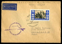 Lot 19392 [1 of 2]:1963 Berlin - Budapest cover with adhesive tied by Special cancel and cachet at left 1.11 1963.