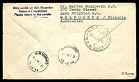 Lot 4098 [2 of 2]:1963 Berlin - Sofia cover with Special cancel and two different cachets 2 .4. 1963.