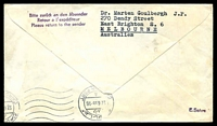 Lot 3637 [2 of 2]:1965 Berlin - Cairo cover with adhesives tied by Special cancel with red cachet at left 22.6.1965.