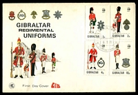 Lot 3545:1971 Military Uniforms set tied to illustrated cover by Gibraltar cds 6 9 71, unaddressed.