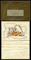 Lot 23294 [1 of 2]:1939 Usage of illustrated Telegram with Orchids with Paddington cds 14 Aug 39 in violet on reverse with its original GPO Greetings Telegram envelope in gold, nice pair.