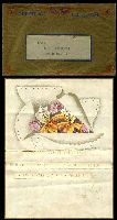 Lot 4075 [1 of 2]:1939 Usage of illustrated Telegram with Orchids with Paddington cds 14 Aug 39 in violet on reverse with its original GPO Greetings Telegram envelope in gold, nice pair.