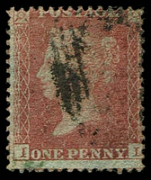 Lot 22973:1854-57 QV Paper More or Less Blued SG #29 1d red-brown Wmk Large Crown