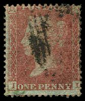 Lot 3553:1854-57 QV Paper More or Less Blued SG #29 1d red-brown Wmk Large Crown