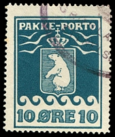 Lot 3599:1915-37 Pakke-Porto (A) Perf 11¼ SG #P7A 10o blue, Cat £60.