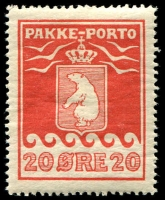 Lot 3893:1915-37 Pakke-Porto Perf 11¼ SG #P9A 20ø red.