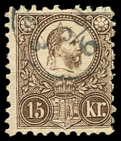 Lot 4215:1871 King Franz Joseph Engraved Issue SG #12 15K brown.