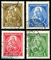 Lot 3725:1932 Madonna and Child SG #535-8 set. (4)