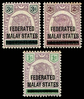 Lot 4116:1900 Overprints SG #1-3 1c to 3c. (3)
