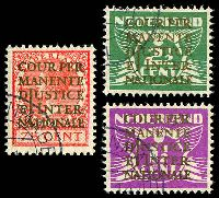 Lot 4021 [2 of 2]:1934-38 International Court of Justice: SG #J1-7 set, ex 30c P13x12½. (7)