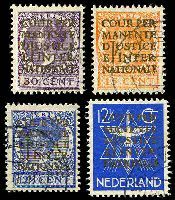 Lot 4021 [1 of 2]:1934-38 International Court of Justice: SG #J1-7 set, ex 30c P13x12½. (7)