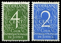 Lot 25222:1950 International Court of Justice: SG #J18-9 set fine used, Cat £23. (2)