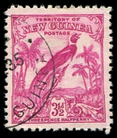 Lot 4211:1932-34 Undated Birds SG #180a 3½d aniline carmine.