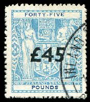 Lot 23818:1940-58 Arms: £45 light blue with overprint fiscally used.