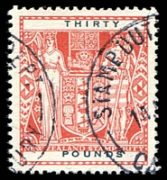 Lot 23819:1940-58 Arms: £30 red fiscally used.