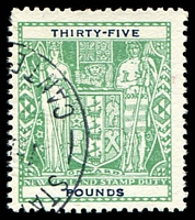 Lot 23817:1940-58 Arms: £35 green fiscally used.