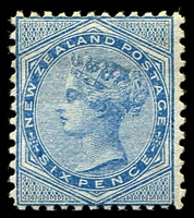 Lot 4165:1878 Sideface QV SG #183 6d blue P12x11½, mint no gum.