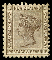 Lot 4441:1895-1900 Second Sideface QV SG #243 6d brown P11, mint no gum.