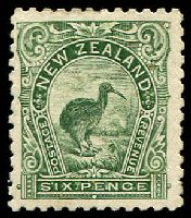 Lot 4168:1899-1903 Thick Soft Paper No Wmk SG #264 6d deep green P11.