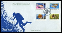 Lot 4124:1984 Fish set tied to illustrated FDC by Norfolk Island cds 17 APRIL 1984, unaddressed.