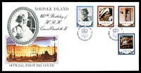 Lot 26974:1986 QE II 60th Bithday illustrated FDC with set tied by Norfolk Island cancel 12 JUN 1986, unaddressed.