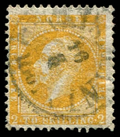 Lot 27017:1856-60 King Oscar I SG #4 2sk orange-yellow, Cat £150.
