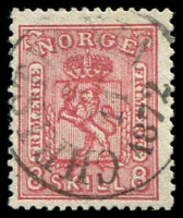Lot 4272:1867-68 No Wmk SG #29 8sk carmine, Cat £65.