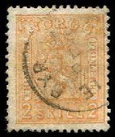 Lot 4046:1867-68 No Wmk SG #24 2sk orange-buff, Cat £75.