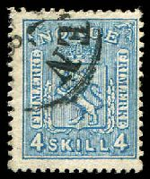 Lot 4040:1867-68 No Wmk SG #27 4sk blue, Cat £14.