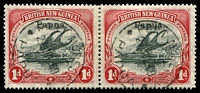 Lot 27092:1906-07 Optd Small 'Papua' SG #39 1d black & carmine pair, used in 1909.