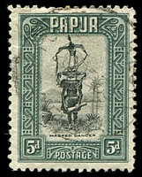 Lot 4068:1932 Pictorials SG #136 5d black and slate-green.
