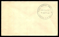 Lot 26628:1960 Goroka: plain cover with fine strike of Humid Tropics Symposium UNESCO Goroka 15 SEPT 60.
